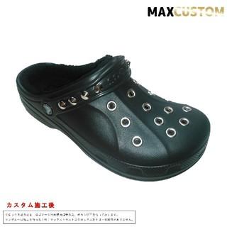 crocs - クロックス crocs パンク カスタム 黒 ボア付 サイズ22~27cm 新品