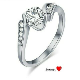 送料無料 10号 シルバー クリア スーパーCZダイヤ ウェディング リング指輪(リング(指輪))