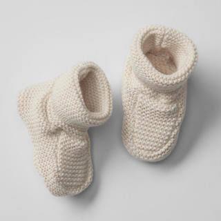ベビーギャップ(babyGAP)のニットブーツ 11㎝ フレンチバニラ(ブーツ)