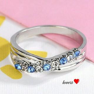 送料無料 15号 シルバーブルートパーズスーパーCZ インフィニティ リング指輪(リング(指輪))