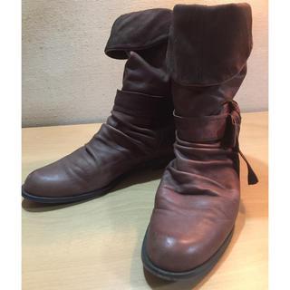 イング(ing)のingレディースブーツ ルーズ型 ブラウン 23cm(ブーツ)
