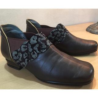 ゆったり履きやすい普段履きレディース・ショートブーツ ダークブラウン 23cm (ブーツ)