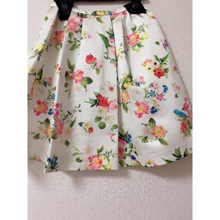 チェスティ(Chesty)のChesty 完売商品 鳥&花柄 スカート&付録アクセポーチ付き(ひざ丈スカート)