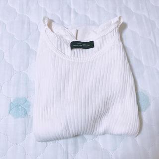 グリーンレーベルリラクシング(green label relaxing)のサマーニット  半袖ニット ニット ホワイト 白色(ニット/セーター)
