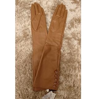 ユニクロ(UNIQLO)の未使用手袋 レディース  合皮ロンググローブ (手袋)
