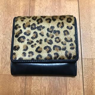 ラルフローレン(Ralph Lauren)のRALPH LAUREN (ラルフローレン) ハラコ×レザー 財布 ブラック(財布)