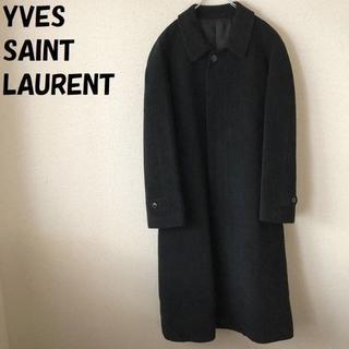 Saint Laurent - 【人気】イヴ・サンローラン アンゴラステンカラーコート オンワード樫山
