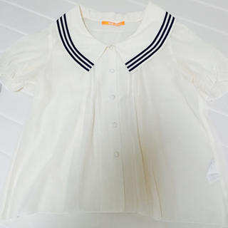 フィント(F i.n.t)のFi.n.t ライン襟ワンピ(シャツ/ブラウス(半袖/袖なし))