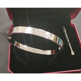 カルティエ(Cartier)の19cm Cartier ブレスレット 超美品 男女兼用 ピンクゴールド(ブレスレット)