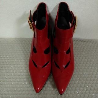 ダイアナ(DIANA)の赤い靴 ブーツ ハーフブーツ(ブーツ)