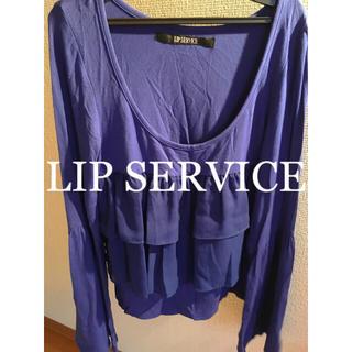 LIP SERVICE - SALE‼︎   リップサービス      シフォン   フリル  トップス