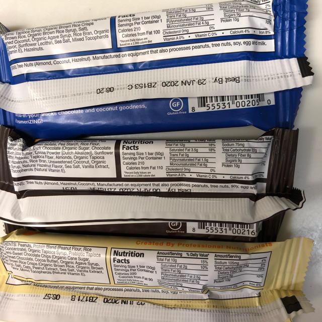 zing bar ⭐︎ 低糖質プロテインバー 6種セット 食品/飲料/酒の健康食品(プロテイン)の商品写真
