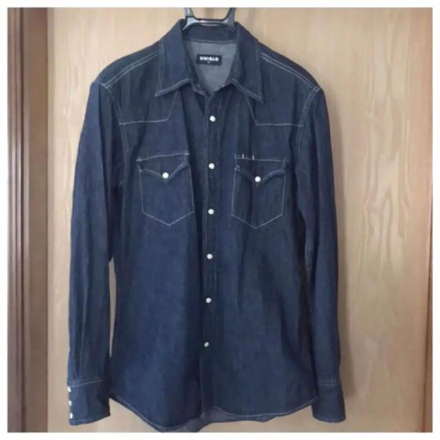 UNIQLO(ユニクロ)のUNIQLO ユニクロ デニムシャツ インディゴ ウエスタンシャツ メンズのトップス(シャツ)の商品写真