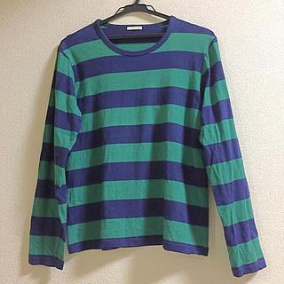 ジーユー(GU)のボーダー長袖Tシャツ(Tシャツ(長袖/七分))