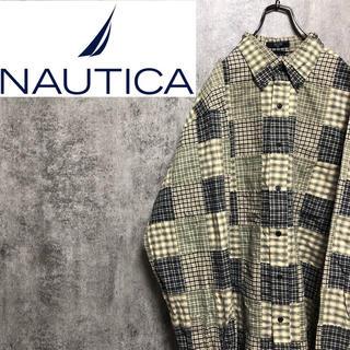 ノーティカ(NAUTICA)の【激レア】ノーティカNAUTICA☆インド製マルチパッチワークビッグシャツ(シャツ)