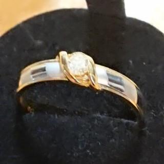PT900 k18 0.1ct 指輪(リング(指輪))
