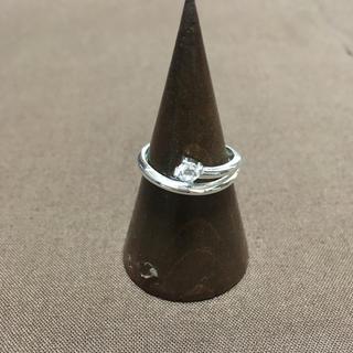 ジルコニア シルバーリング16号 アジアン 指輪 アクセ カレン(リング(指輪))