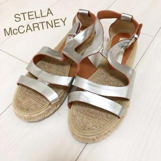 ステラマッカートニー(Stella McCartney)の美品!ステラマッカートニー 22.0〜 スペイン製 シルバー サンダル(サンダル)