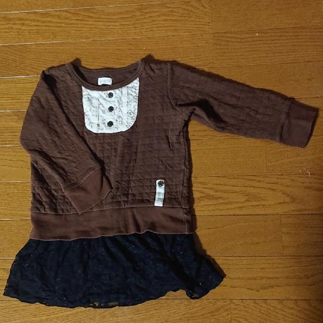 Biquette(ビケット)の女の子 チュニック 110 キッズ/ベビー/マタニティのキッズ服 女の子用(90cm~)(ワンピース)の商品写真