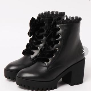 アクシーズファム(axes femme)のaxes femme レースアップブーツ ブラック(ブーツ)