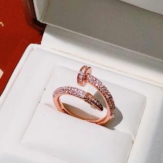 カルティエ(Cartier)の素敵♥キラキラ カルティエ ダイヤ リング 刻印 ピンクゴールド (リング(指輪))