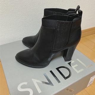 DIANA - 【美品】DIANA サイドゴアブーツ ショートブーツ  黒 冬