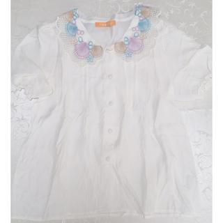 フィント(F i.n.t)のFi.n.t シェル襟ブラウス(シャツ/ブラウス(半袖/袖なし))