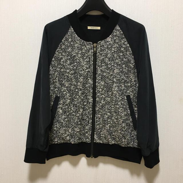 ROSE BUD(ローズバッド)のROSE BUD オシャレなツイード素材のブルゾン レディースのジャケット/アウター(ブルゾン)の商品写真