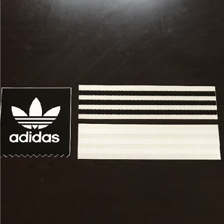 アディダス(adidas)の「縦6cm横23cm」adidas skateboard ステッカー3枚セット(スケートボード)