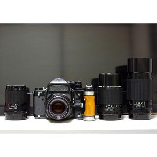 PENTAX - Pentax 67ttl グリップ レンズ4本105/135/200/300