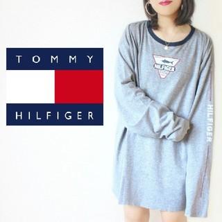 トミーヒルフィガー(TOMMY HILFIGER)の【入手困難】90s・メキシコ製 Tommy Hilfiger ロンT ワンピース(Tシャツ(長袖/七分))