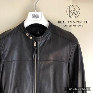 ビューティアンドユースユナイテッドアローズ(BEAUTY&YOUTH UNITED ARROWS)のleather jacket ユナイテッドアローズ beams sacai(レザージャケット)