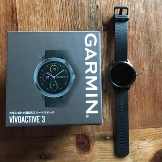 ガーミン(GARMIN)のGARMIN Vivoactive3 Black slate(腕時計(デジタル))