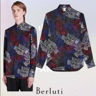 ベルルッティ(Berluti)の試着のみ19ssベルルッティberlutiスクリットシャツカリグラフィー(シャツ)