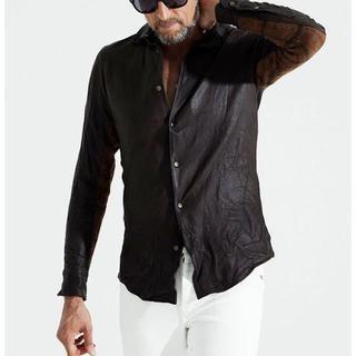 ウノピゥウノウグァーレトレ(1piu1uguale3)の定価30万超 1piu1uguale3 限定3Dレザーシャツ AKMwjk(レザージャケット)