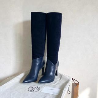 Hermes - 11/9 7→5.8万 HERMES エルメス ブーツ ロングブーツ