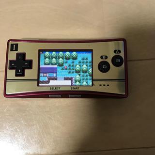 ゲームボーイアドバンス(ゲームボーイアドバンス)のゲームボーイミクロ ファミコンカラー ポケモンファイアレッド付き(携帯用ゲーム機本体)