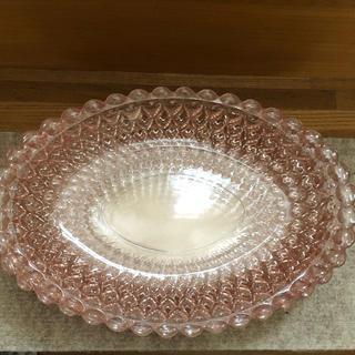昭和レトロ トーヨーガラス ピンクガラスプレート5枚セット