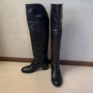 ファビオルスコーニ(FABIO RUSCONI)のコルソローマ corso roma9 ニーハイブーツ ユーズド 23.5cm(ブーツ)