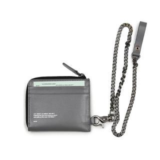 オフホワイト(OFF-WHITE)のOFF-WHITE オフホワイト チェーン 付き財布 (折り財布)