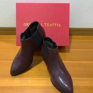 オリエンタルトラフィック(ORiental TRaffic)の未使用品 箱あり オリエンタルトラフィック サイドゴアブーツ ブラウン LL(ブーツ)