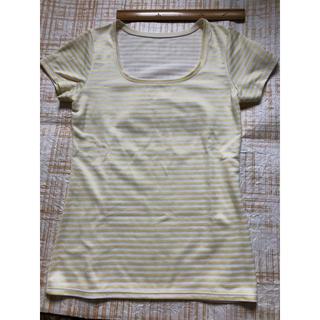 ワコール(Wacoal)の美品 ワコール Tシャツ イエローボーダーMサイズ(Tシャツ(半袖/袖なし))