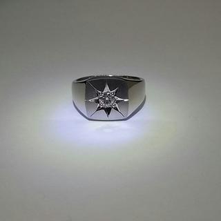 印台 Pt900 リング ダイヤモンド付き プラチナ(リング(指輪))