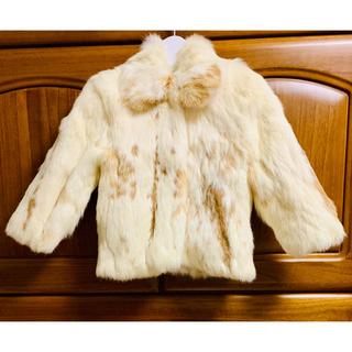 シャネル(CHANEL)のキッズリアルファーコート ファージャケット ファーアウター 上着 毛皮 うさぎ毛(コート)