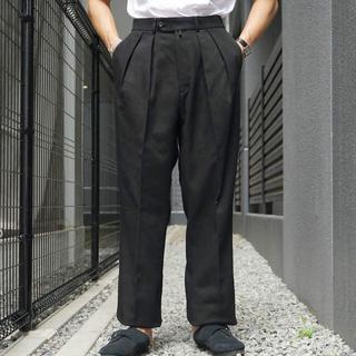 コモリ(COMOLI)の【新品】NEAT Cotton Kersey / Wide BLACK 48(スラックス)