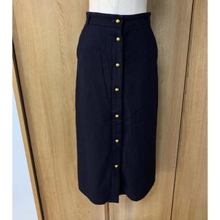 シップス(SHIPS)のSHIPS☆フロントボタンウールロングタイトスカート(ロングスカート)