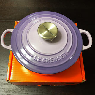 ルクルーゼ(LE CREUSET)の新品  ルクルーゼ   18センチ  ブルーベルパープル  ル・クルーゼ(食器)