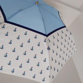 ケイタマルヤマ(KEITA MARUYAMA TOKYO PARIS)の元旦までTiger様専用 ケイタマルヤマ ヨット柄折りたたみ雨傘 カーボン(傘)