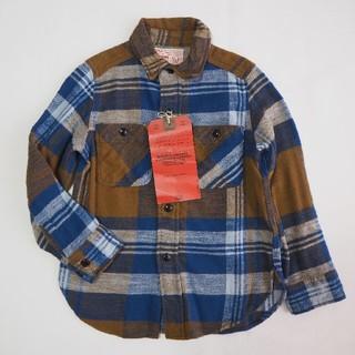 DENIM DUNGAREE - 新品未使用 ニーノチェックシャツ ブラウン ネルシャツ FITH
