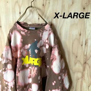 エクストララージ(XLARGE)の【希少】X-LARGE 一点モノ リメイク ブリーチ クラッシュ スウェット(スウェット)